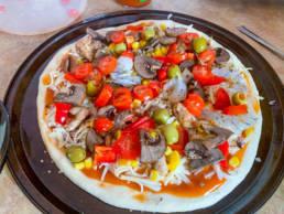 homemade pizza everyone